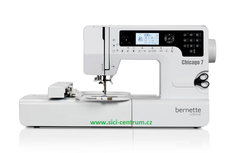 šicí a vyšívací stroj Bernette Chicago 7 + software Gustomizer ZDARMA