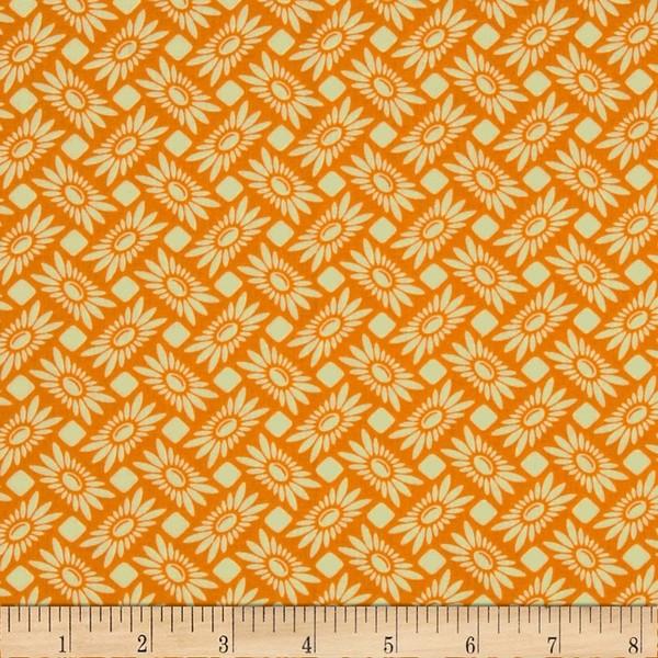 látka heather true colors-picnic daisy-tangeri 100%bavlna/110cm šíře/ rowan