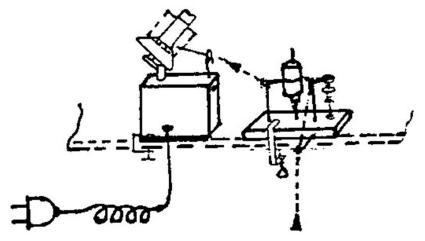 navíječ příze elektrický Medium(PDB3) + Parafínovač, pro klubka 150-250g.