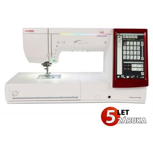 šicí a vyšívací stroj Janome MC 14000 + dárek