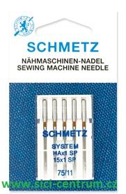 jehla pro overlock Schmetz 5ks/75 Super Stretch