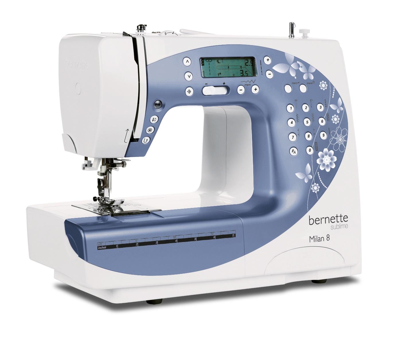 šicí stroj Bernette Milan 8 + záruka 3 roky