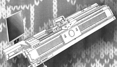 dvojlůžkový pletací stroj NOVAKNIT-S DBZ-245-1 + JBL245-2   s převěšovacími saněmi RT-1