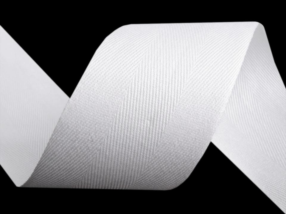 keprovka/tkaloun bílý 50mm