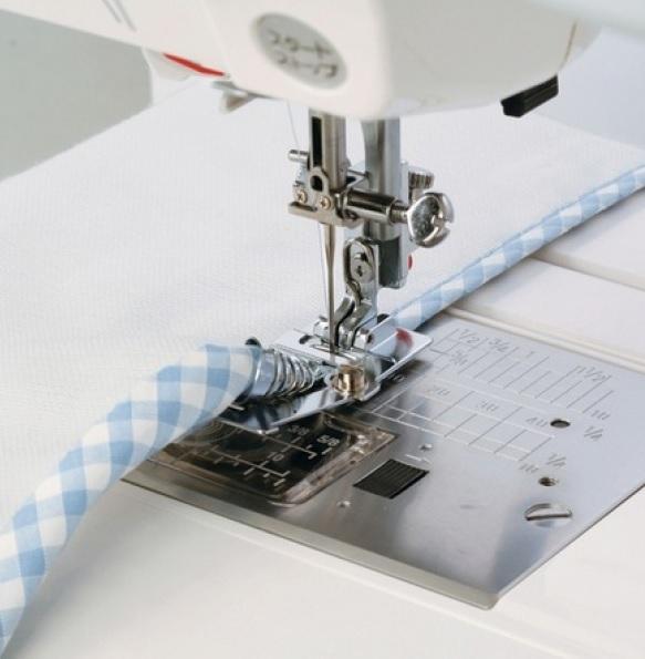 Patka pro lemování textilní páskou, 10-14mm(šikmý proužek)