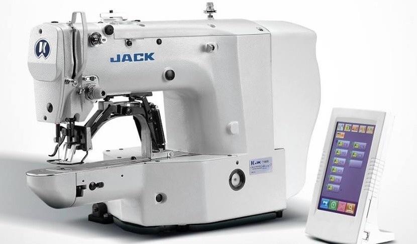 Jack T1900BS elektronický závorovací šicí stroj - ryglovačka