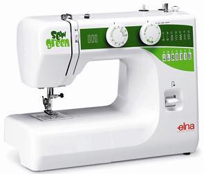 šicí stroj Elna 1000 Sew Green + sada kvalitních jehel Organ ZDARMA