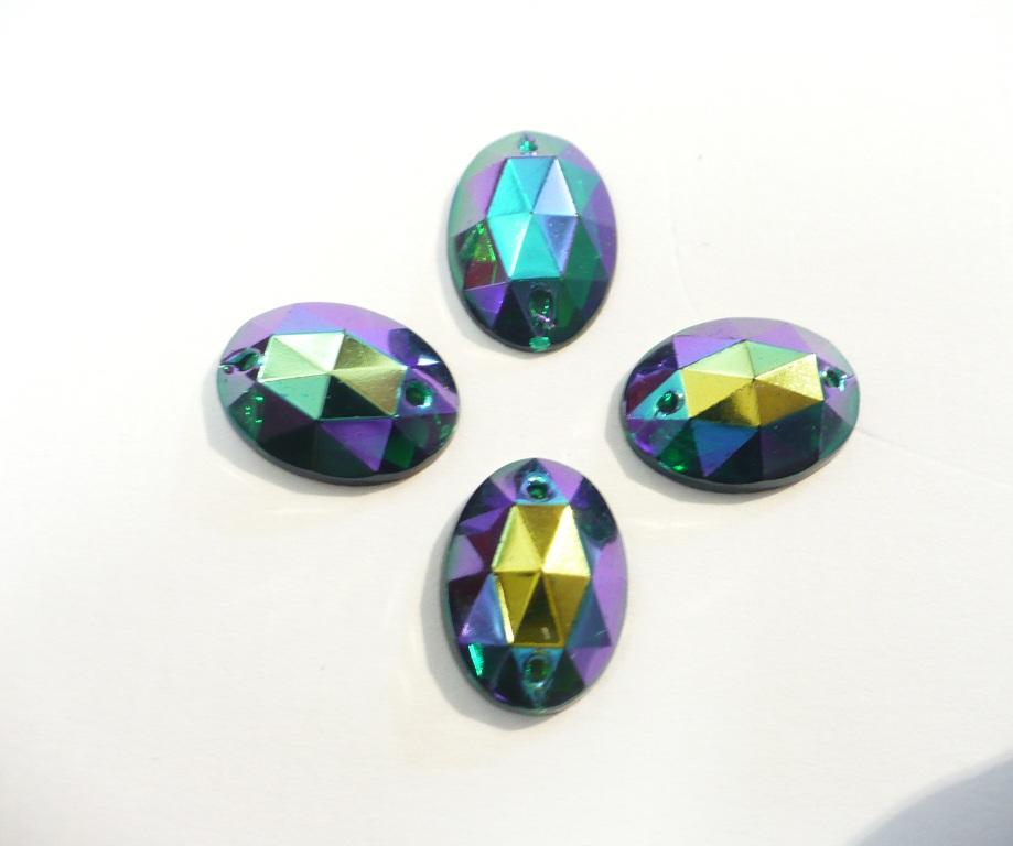 štrasové kameny perleťové - 4ks fi.