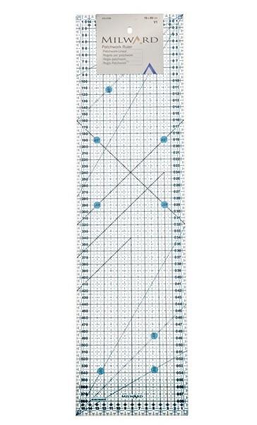 pravítko pro patchwork modré 16x60cm Milward