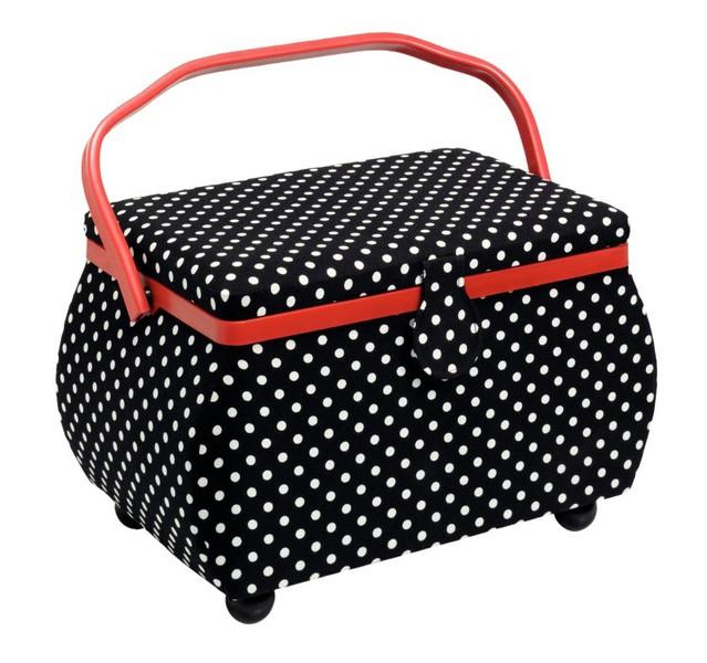 košík na šicí potřeby Polka Dots