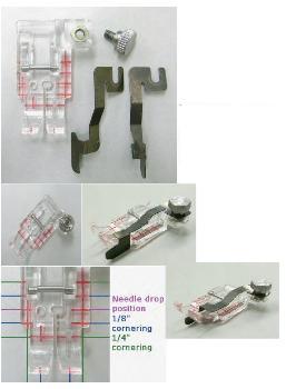 Průhledná látací/quiltovací patka s vodičem 200449001 JANOME