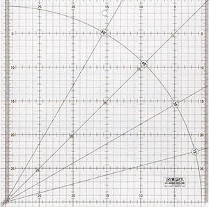 patchworkové pravítko 30x30cm - OLFA