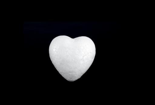 polystyrénové srdce 10cm