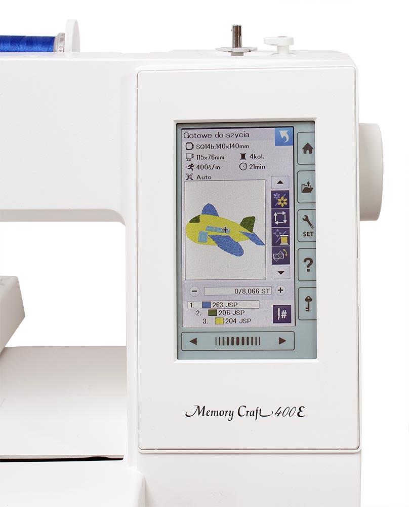 vyšívací stroj Janome MC400E + vyšívací sada ZDARMA-1