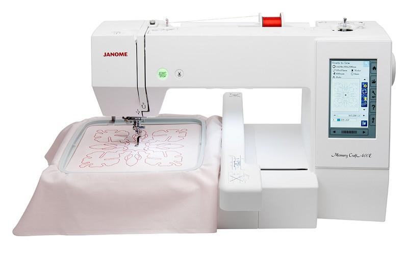 vyšívací stroj Janome MC400E + vyšívací sada ZDARMA-2