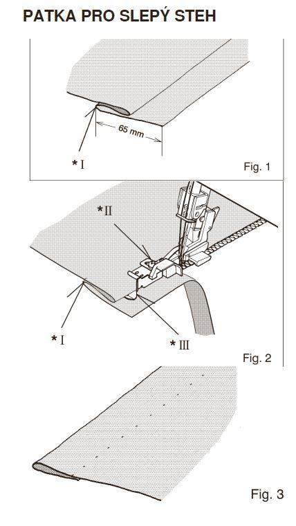 patka na slepý steh pro overlocky Texi-1
