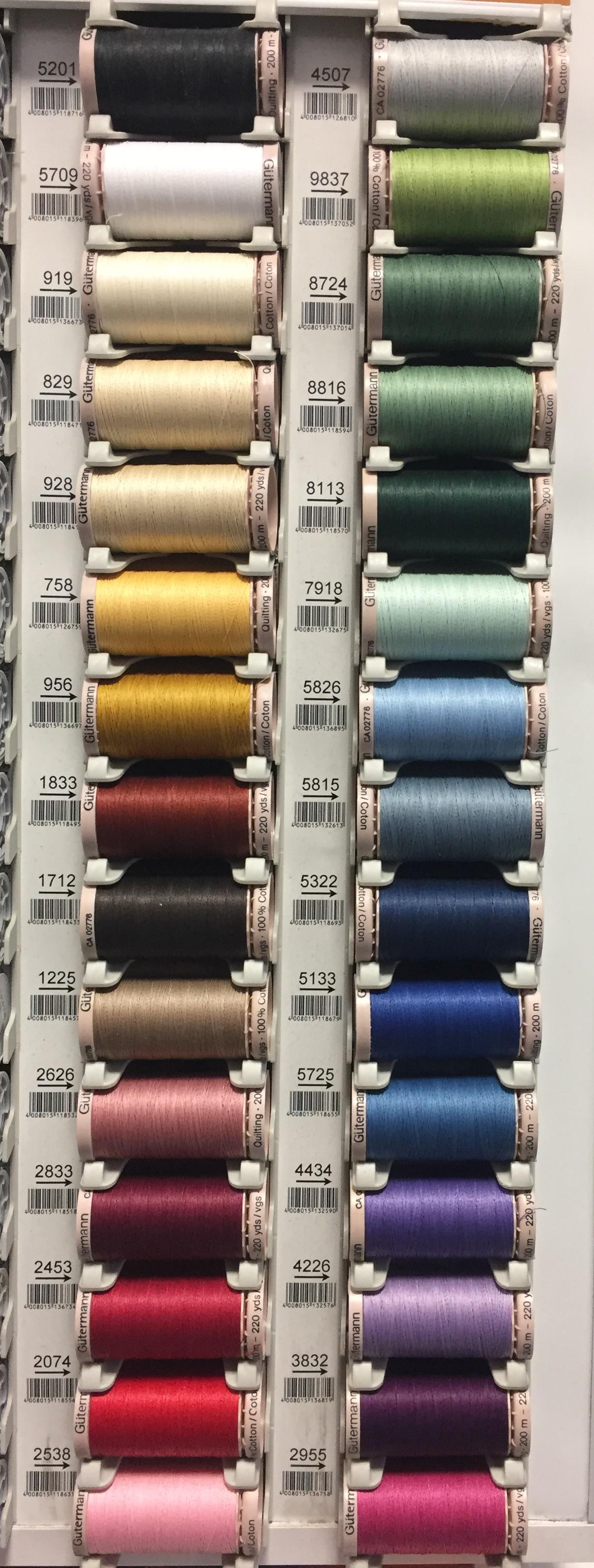 šicí nitě Gütermann 100%Bavlna 200m pro ruční šití-2