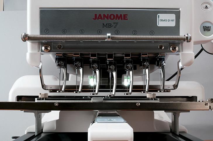 vyšívací stroj Janome MB-7-3