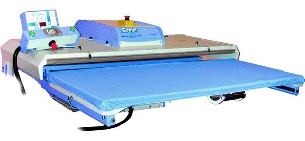 průmyslový žehlící lis PL/T1100 110x40cm - automatické pneumatické ovládání-1