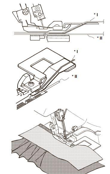 patka řasící Bernina L450/460-1