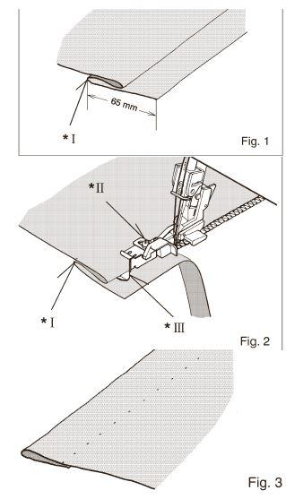 patka na slepý steh 1,0mm Bernina L450/460-1