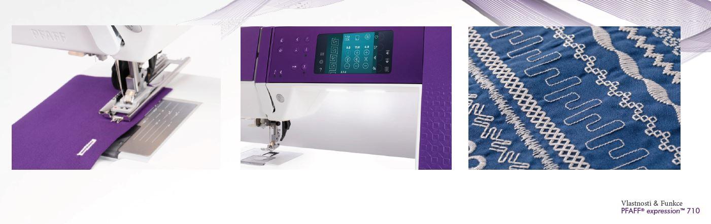 šicí stroj Pfaff Expression 710 + sada kvalitních jehel Organ a 3 roky záruka ¸-7