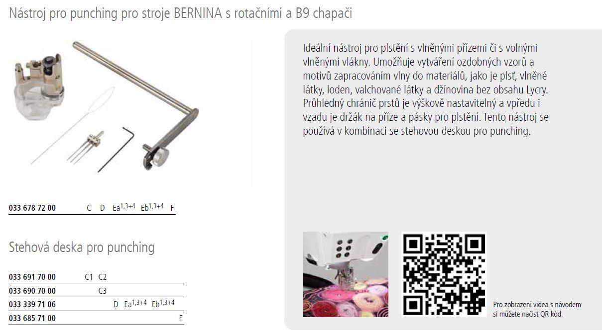nástavec na zatkávání - PUNCH TOOL Bernina 9mm-5