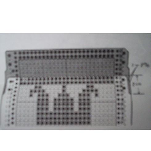 děrnoštítkový kleště na vytváření vzorů pro pletací stroje-2