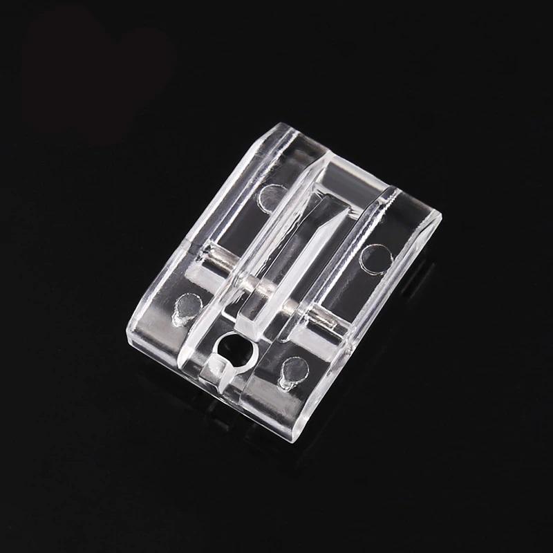 patka na skrytý zip (pro všechny šicí stroje) transparentní plast-2