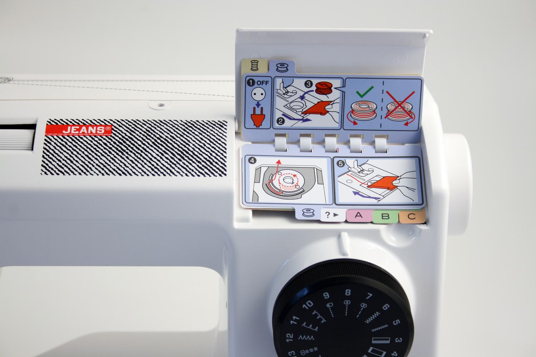 šicí stroj Toyota Super Jeans 17CT bílý-7