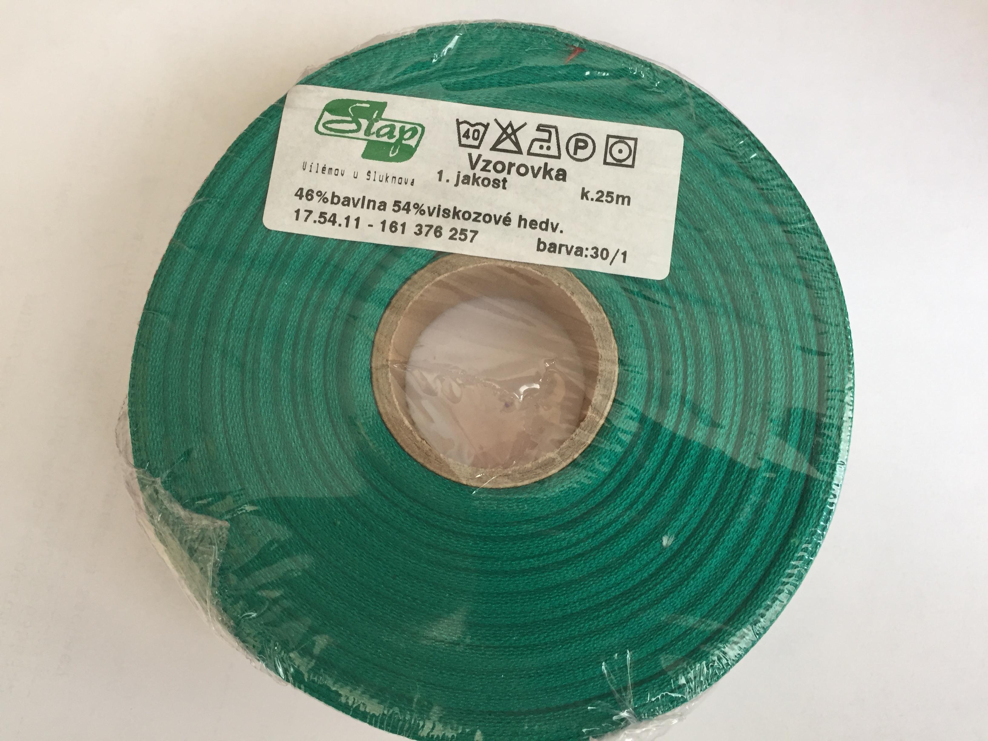krojová vzorovka vyšívaná 25mm zelená-2