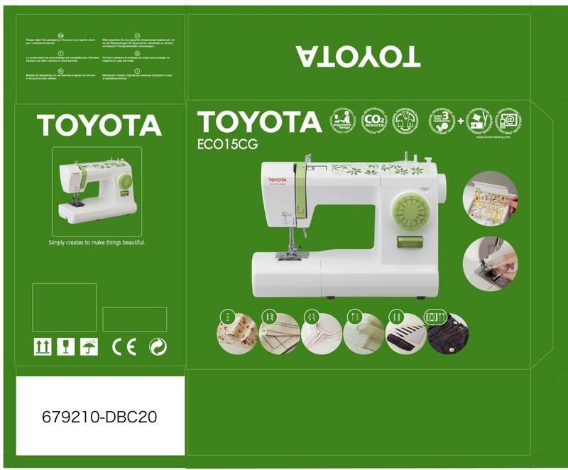 šicí stroj Toyota ECO 15CG green-2