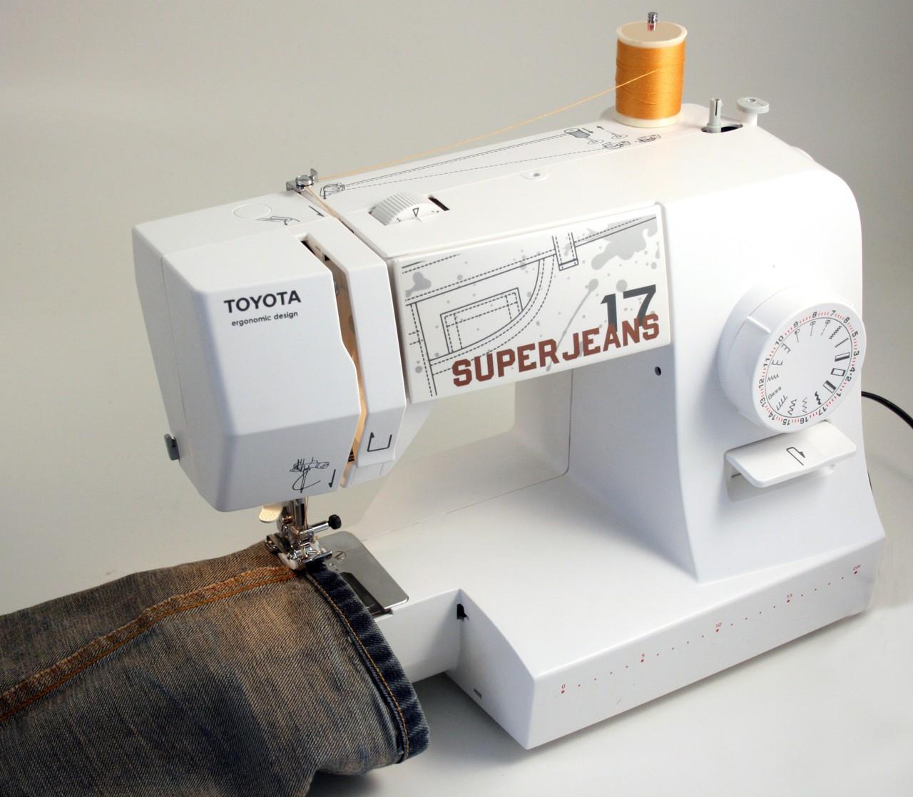 šicí stroj Toyota Super Jeans 17 bílý-1