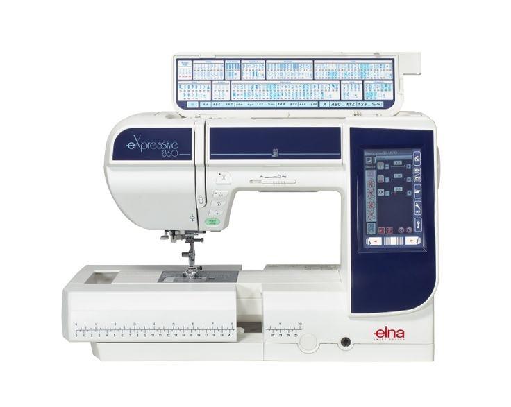 šicí a vyšívací stroj Elna 860 eX + vyšívací software Digitizer Ex Jr. ZDARMA-3