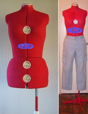 krejčovská panna Leg-Form B/M 8part bordo-1