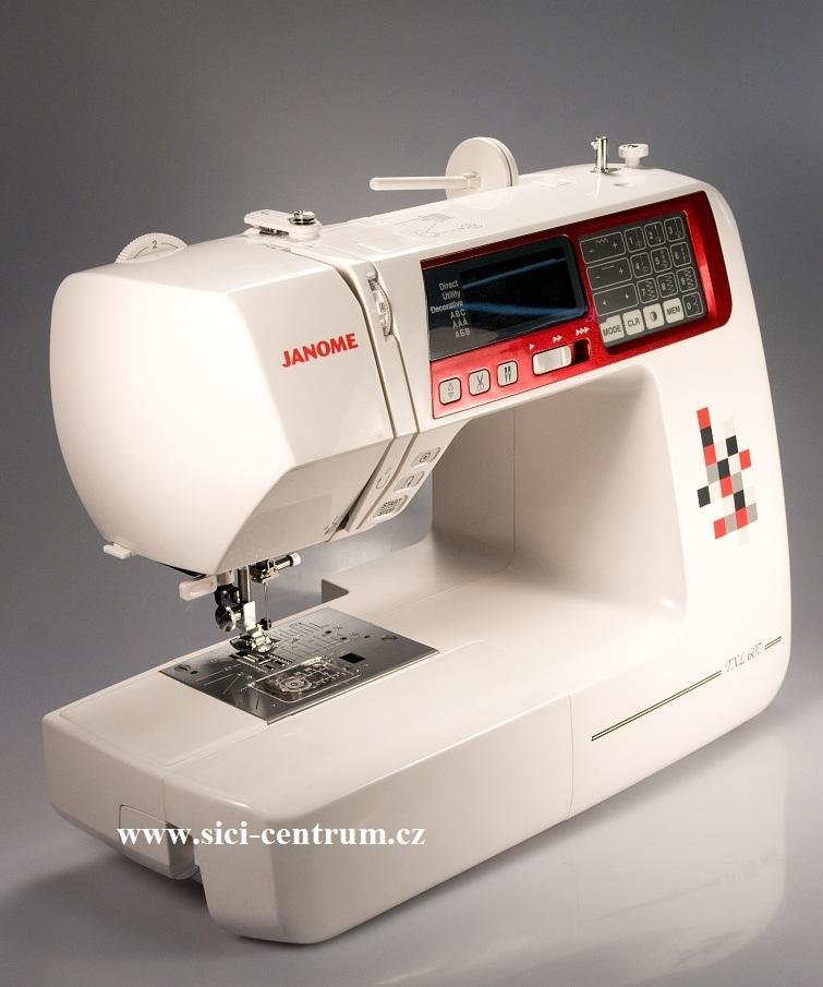 šicí stroj Janome 607 TXL+ přídavný stolek-3