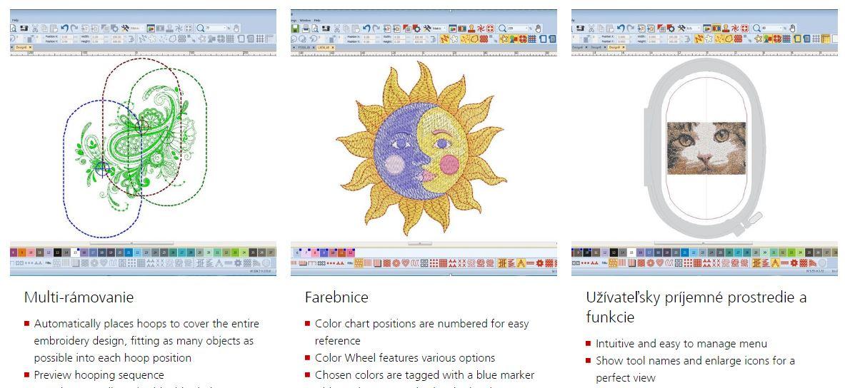 vyšívací software Bernina Designer Plus 8-7