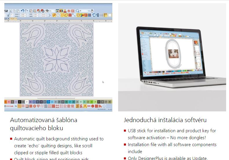 vyšívací software Bernina Designer Plus 8-8