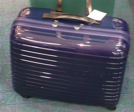 modrý cestovní kufr na kolečkách pro šicí stroje-2