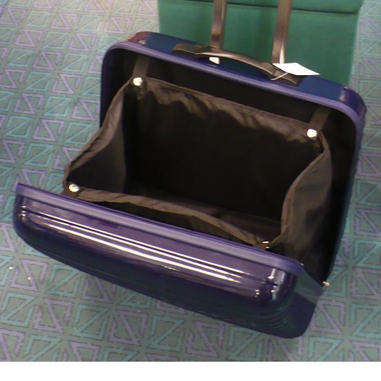 modrý cestovní kufr na kolečkách pro šicí stroje-3