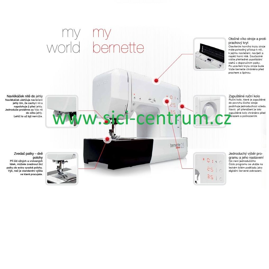 šicí stroj Bernette London 5  + sada kvalitních jehel Organ ZDARMA -3