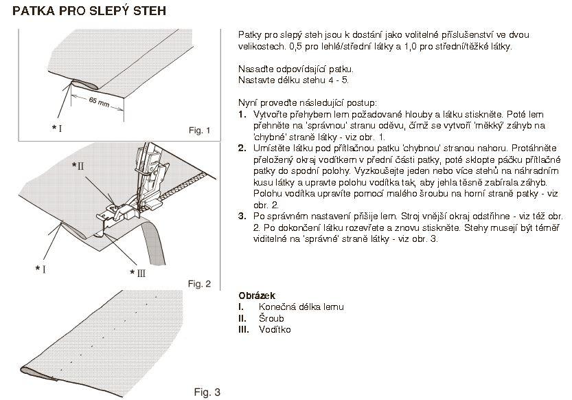 patka na slepý steh - Zetina 4150-1