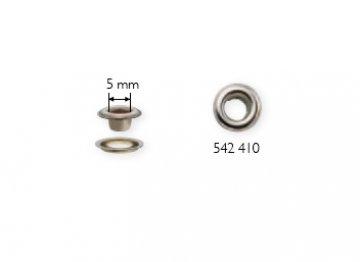stříbrná průchodka s podložkou 5mm-100ks