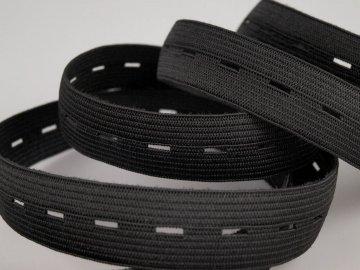 guma prádlová 15mm-černá dirková