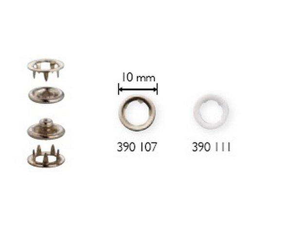druk jersey kroužek 10mm bílý 10ks-