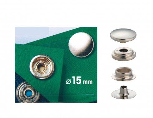 druk stiskací Sport & Camping 15mm stříbrný 10ks