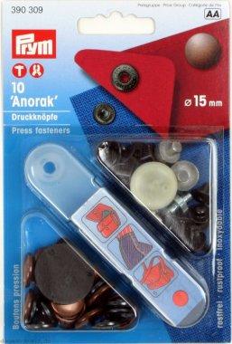 druk stiskací ANORAK/WUK 15mm bronz 10ks