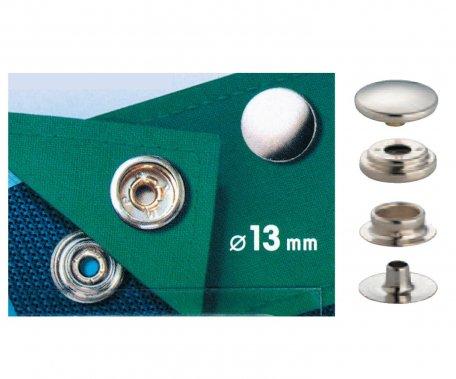 druk stiskací Sport Mini 13mm stříbrný 10ks