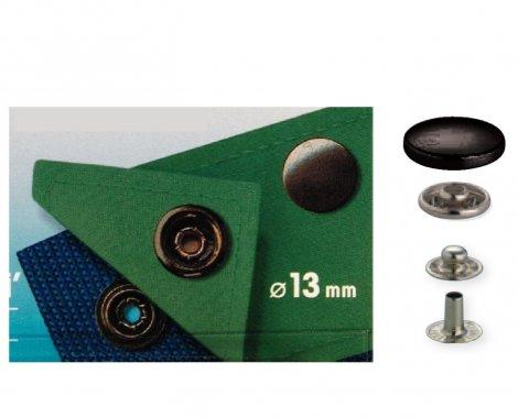 druk stiskací Sport Mini 13mm černý 10ks