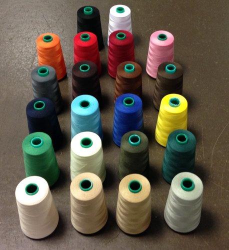 nit 100% PES-40/2-5000Yds-pro overlocky různé barvy-